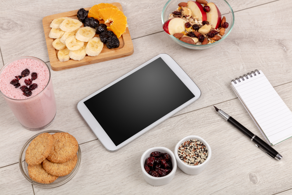 Healthy food composition with empty tablet